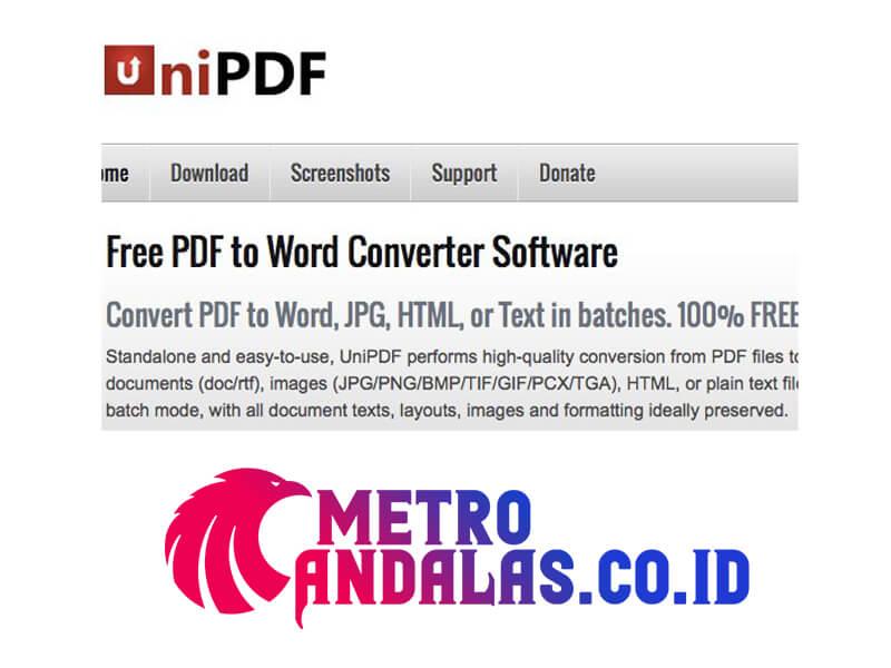 Cara Mengubah PDF unipdf