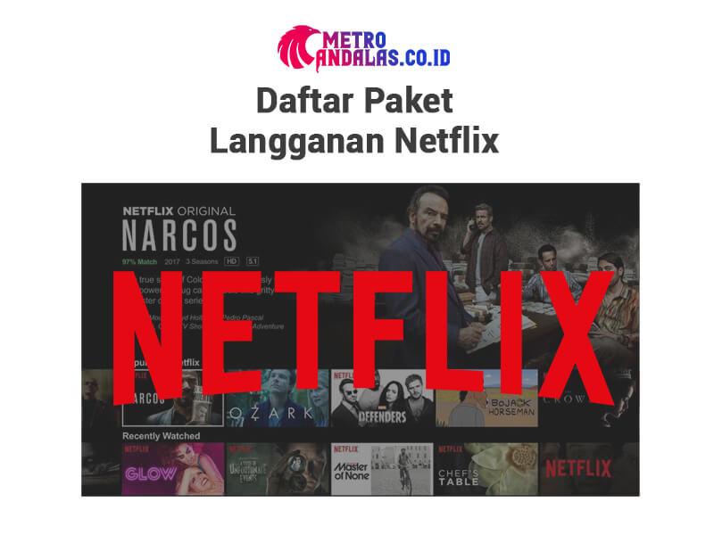Cara Berlangganan Netflix Paket