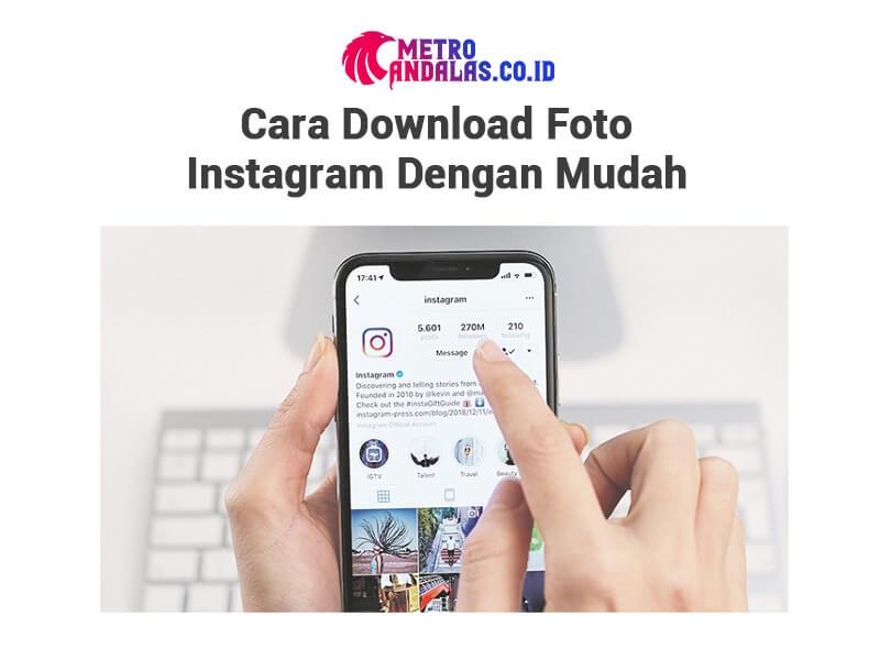 Cara Download Foto Instagram hp