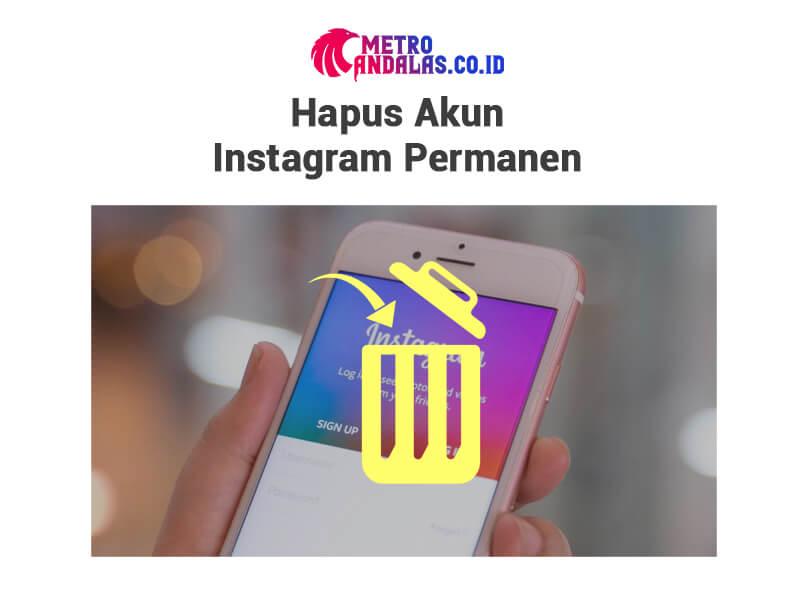Cara Menghapus Akun Instagram prmn
