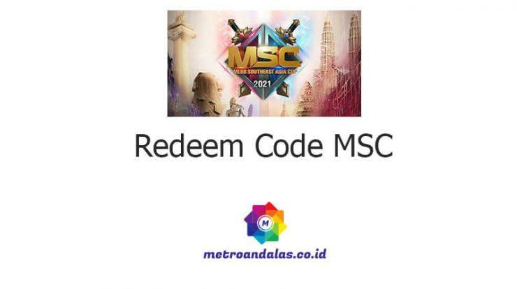 Mobile Legends Redeem Code MSC