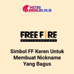 Simbol FF Keren untuk membuat nickname yang bagus